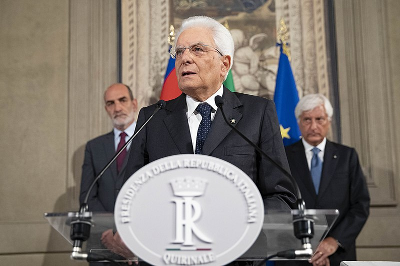 This image is licensed under the Creative Commons Attribution 1.0 Generic license https://creativecommons.org/licenses/by/1.0/deed.en - source: https://commons.wikimedia.org/wiki/File:Sergio_Mattarella_in_2019.jpg